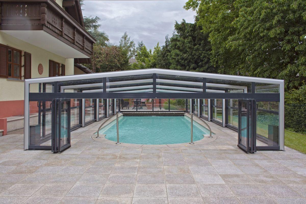 Copertura telescopica per piscina professione piscina - Piscine gia pronte prezzi ...