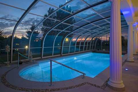 piscina copertura telescopica
